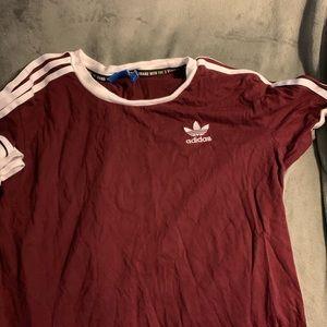 Maroon adidas T-shirt
